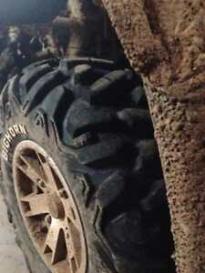 "25"" on 12"" rim bighorns trade for 27"" tire"