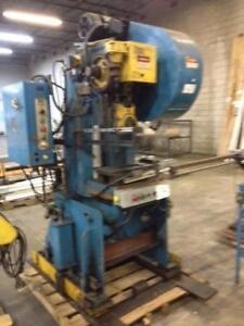 Punch Press, 25 ton Rousselle OBI, Air clutch, air brake, 600 volt 3 phase electrics.