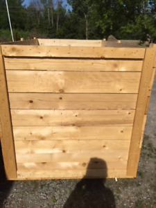 wooden crate with lid for storage/shipment, 220 cm x 120 x 120
