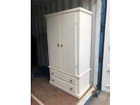 Pine Bedroom Wardrobe 2 Drawer 99cm w x52 deep 182 high 2draw