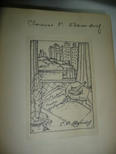 Clarence P Oberndorf SIGNED w/ Bookplate Great Offensive by Hansen 1933 1st ed