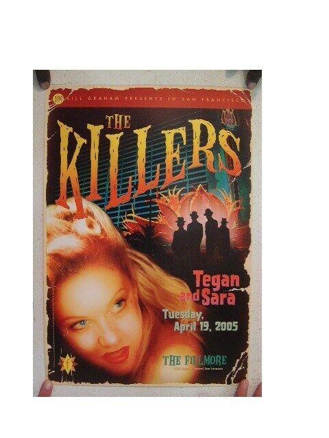The Killers Tegan and Sara Poster The Fillmore  Original 2005