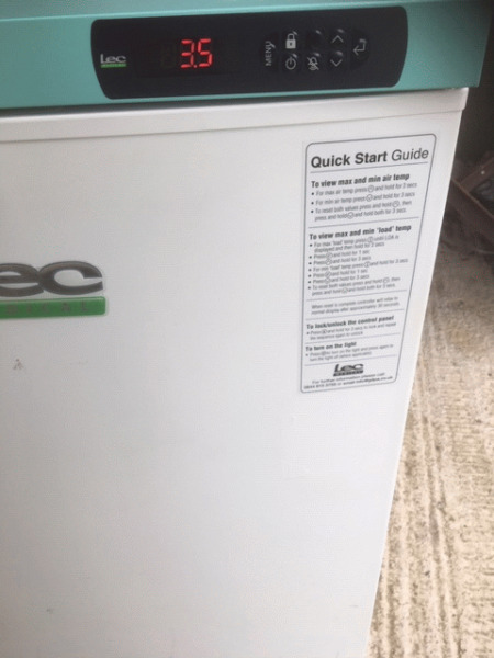 Refrigeration - Used Lec Medical Pharmacy Solid door Fridge 151 Ltrs, Excellent Condition - Bargain