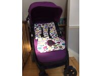 Mamas and Papas SYNC pushchair with lovely padded seat liner