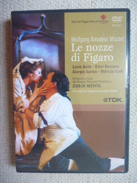 Le Nozze Di Figaro - Mozart (DVD, 2005, 2-Disc Set) Excellent Condition!