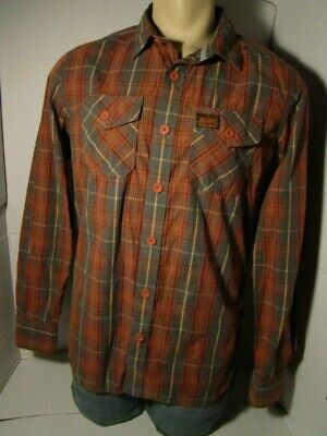 Superdry Denim Men's Lumberjack Plaid Long Sleeve Button Down Shirt