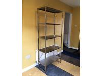 Ikea Dacke Stainless Steel Shelf Unit, 5 shelves