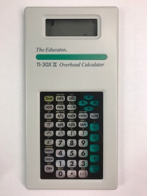 The Educator Overhead Calculator TI-30X II - Stokes Publishing NEW