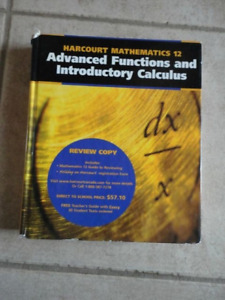 Harcourt  Grade 12 Advanced Functions & Introductory Calculus