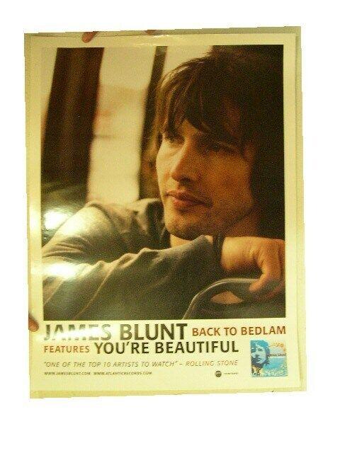 James Blunt Poster Back To Bedlam Mint