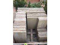 Natural stone patio slabs