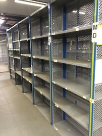 30 bays DEXION impex industrial shelving 2.3m high. ( storage , pallet racking )