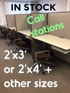 OPEN OFFICE CUBICLES or CALL STATIONS, USED, EXCELLENT