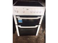 £120.33 Beko ceramic electric cooker+60cm+3 months warranty for £120.33
