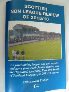 Scottish Non League Review of 2015/16, football, scottish junior, juniors  NEW
