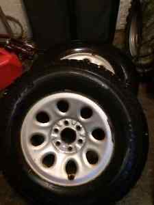 17 Inch Winter Tires And Rims For Chev Truck
