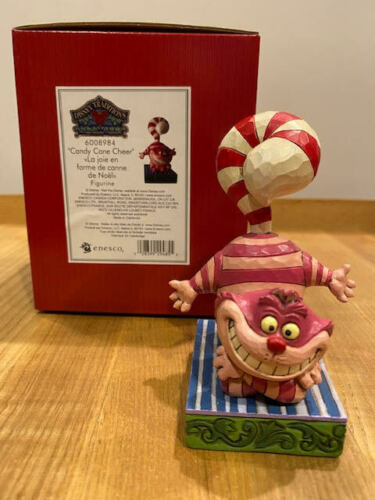 Jim Shore Disney Candy Cane Tail - Cheshire Cat Christmas #6008984 New for 2021