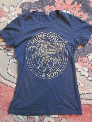 T Shirt Concert Mumford and Son Light Blue Womans Extra Small Boy Womens Light T-shirt