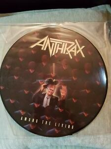 ANTHRAX AMONG THE LIVING PICTURE DISC VINYL ! BRAND NEW !