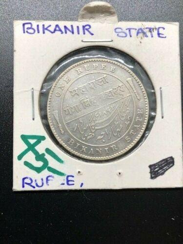 India - 1 Rupee - Bikanir State