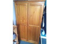 Pine wardrobe £75