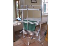 3-tier Heated Tower Airer and Dryer; Foldable Aluminiun 300 watts