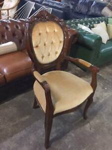 F38021 Vintage and French Style Velvet Carver Armchair 2 Avail Mount Barker Mount Barker Area Preview
