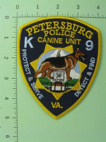 713 Virginia PETERSBURG POLICE K9 UNIT Patch ~ Protect & Serve ~ Detect & Find