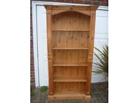 Solid Pine Waxed Bookcase
