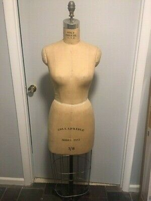 Vintage Wolf Cage Dress Form Size 78 Model 1987 Collapsible Cast Iron Base