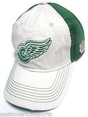 Detroit Red Wings Green (Detroit Red Wings NHL Reebok Slouch Hat Cap Green Irish Clover Lucky)