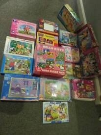 Joblot puzzels box Disney Princess and many more plus Scoby-Doo toy dog