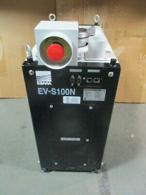 Ebara EV-S100N Dry Pump, DKF00124, Vacuum, EMB-EVS2, LAM 796-108048-010, 101335