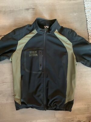 Harley Davidson Jacket Heavy Duty Polyester Fleece Lined Size XL Tall