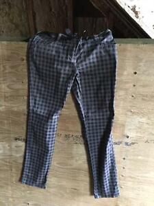 women's checkered pants