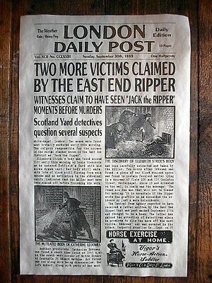 NOVELTY POSTER HALLOWEEN JACK RIPPER LONDON WHITECHAPEL NEWS 18
