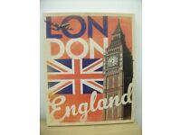 Americanflat London Flag Framed Vintage Advertisement