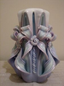 Large Decorative Carved Wax Candle Cathedral Twist, Cascading Kitchener / Waterloo Kitchener Area image 2