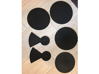 DRUM MUTE PADS - 6 IN TOTAL USED GOOD CONDITION - £15 BARGAIN