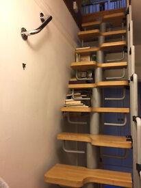 Wood and metal space saving staircase kit