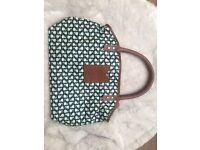 Orla Kiely handbag, small green apples design, never used