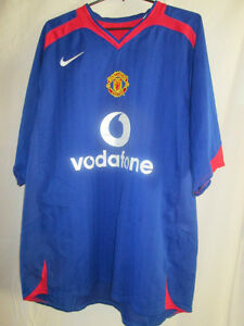 Manchester-United-2005-2006-Away-Football-Shirt-Size-Small-20392-Red-Devils