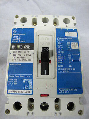 WESTINGHOUSE 480VAC 15A 3-POLE CIRCUIT BREAKER EHD3015