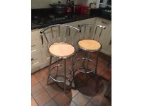 x4 High breakfast dining chairs