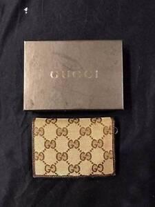 Genuine Gucci Canvas/ Leather Card Case Wallet Runcorn Brisbane South West Preview