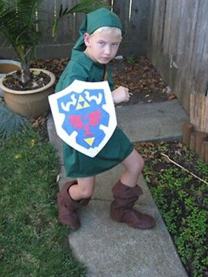 Link Costume Zelda Cosplay deluxe Ocarina of Time Kids custom made IN - Zelda Kostüm Ocarina Of Time