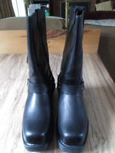 "Harley Davidson boots black leather steel toe CSA 12""high"