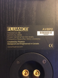 Fluance AVBP2 Home Theater Bipolar Surround Sound Speakers (2)