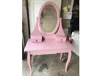 Ikea hemnes pink dressing table with mirror
