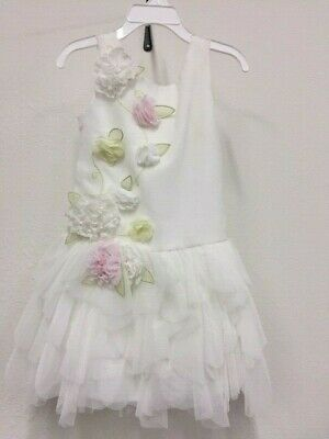 New Girl's Biscotti Ivory Flowers Dress Pageant Wedding ](Biscotti Flower Girl Dresses)